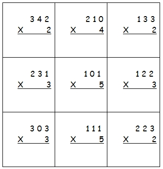 Fiche ce2 multiplication for Table de multiplication cm2