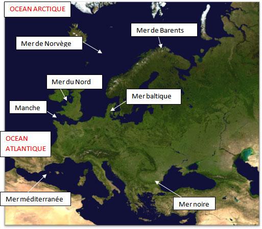 Carte De Leurope Pour Ce2.Continents Et Oceans Ce2